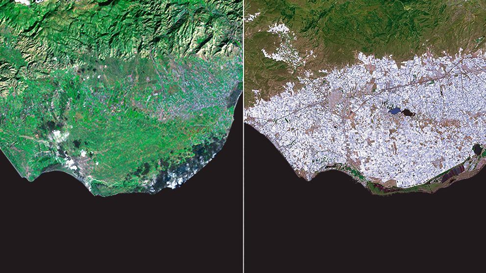 La NASA descubre un mar de plástico español