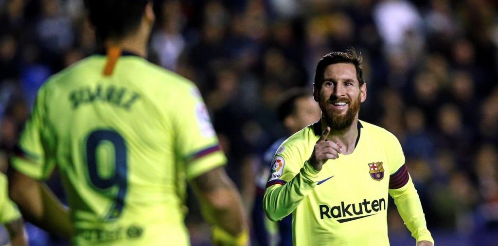 Levante 0 - 4 Barcelona de LaLiga Santander