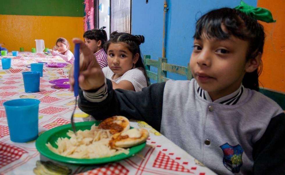 La asistencia alimentaria a niños creció en el país