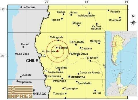 Fuerte sismo en San Juan y Mendoza
