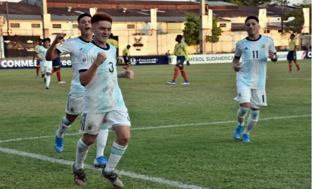Argentina goleó a Colombia y es finalista del Sudamericano Sub 15