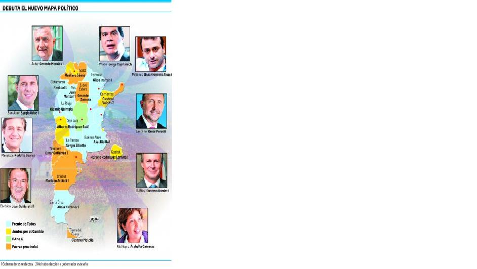 Asumen 18 gobernadores en distintas provincias de la Argentina