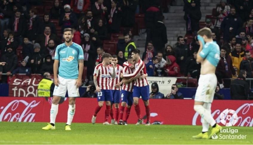 El Atlético de Madrid derrotó al Osasuna