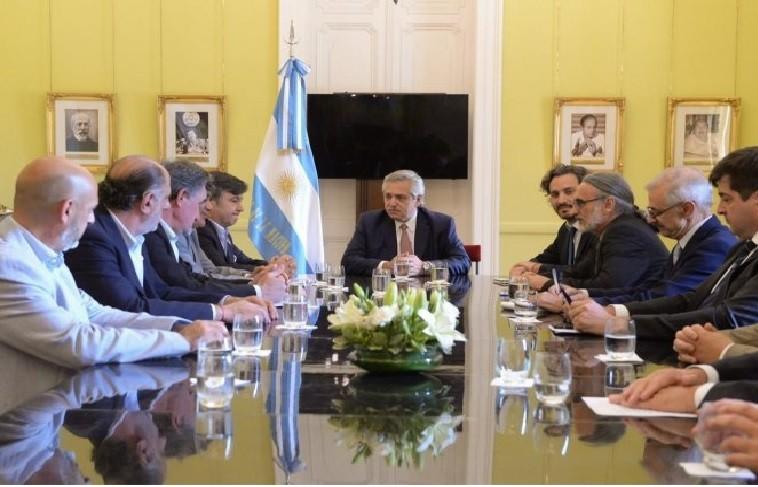 Alberto Fernández se reunió con la Mesa de Enlace