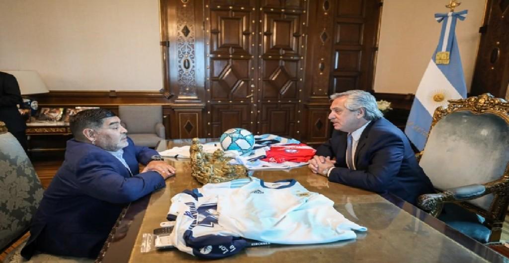 Maradona le presentó un proyecto a Fernandez