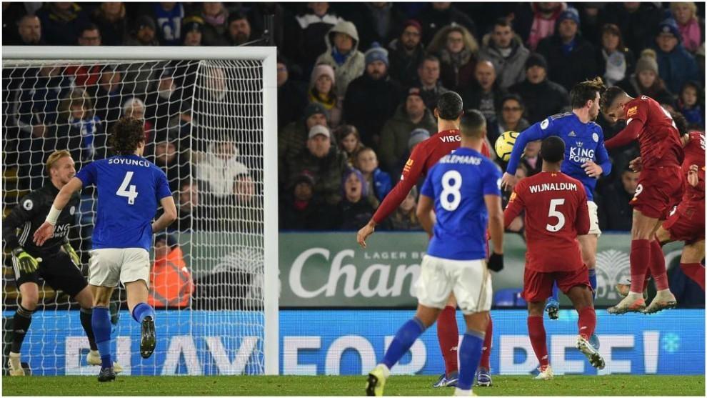 Liverpool se impuso al Leicester por la Premier League