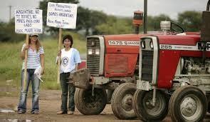 Agropecuarios del centro del Paìs protestan